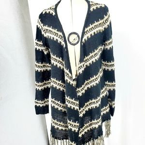 Maurices boho open cardigan with fringe detail